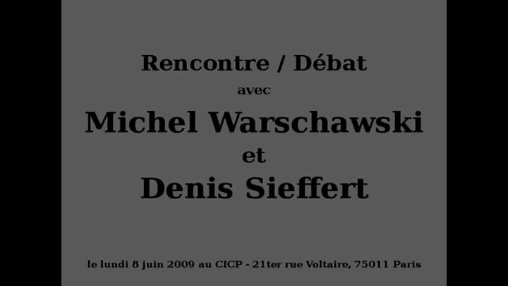 Rencontre / Débat avec Michel Warschawski et Denis Sieffert